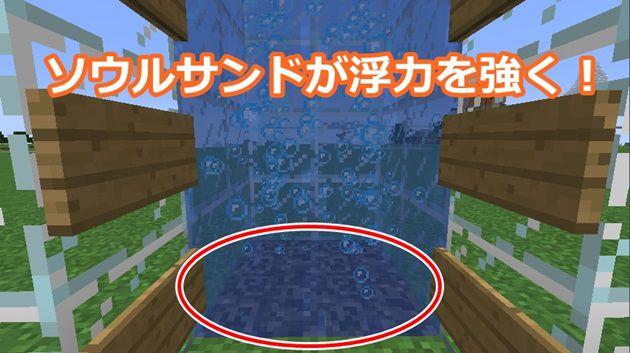 マイン クラフト 水流 エレベーター