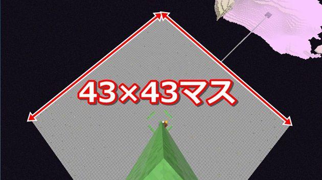 湧き層43×43にハーフブロック