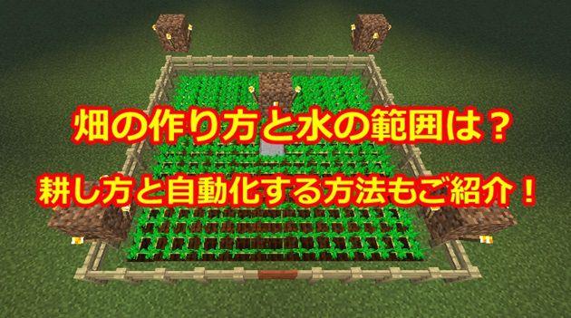 基本的な畑の作り方