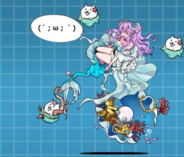 攻撃を受ける宝玉の人魚姫ルリィ