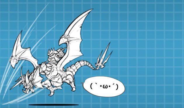 攻撃中の竜騎士バルス