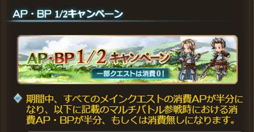 AP・BP半額キャンペーン