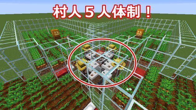 村人5人体制の全自動農場