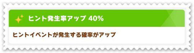 SSRゴールドシップは、ヒント発生率が40%と非常に高い。