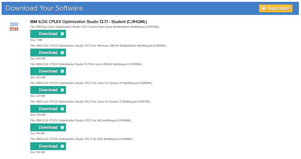 CPLEX Optimization Studio 12 7 1 の無償ダウンロードとインストール