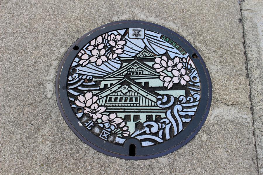 大阪市の下水道マンホール(北区)