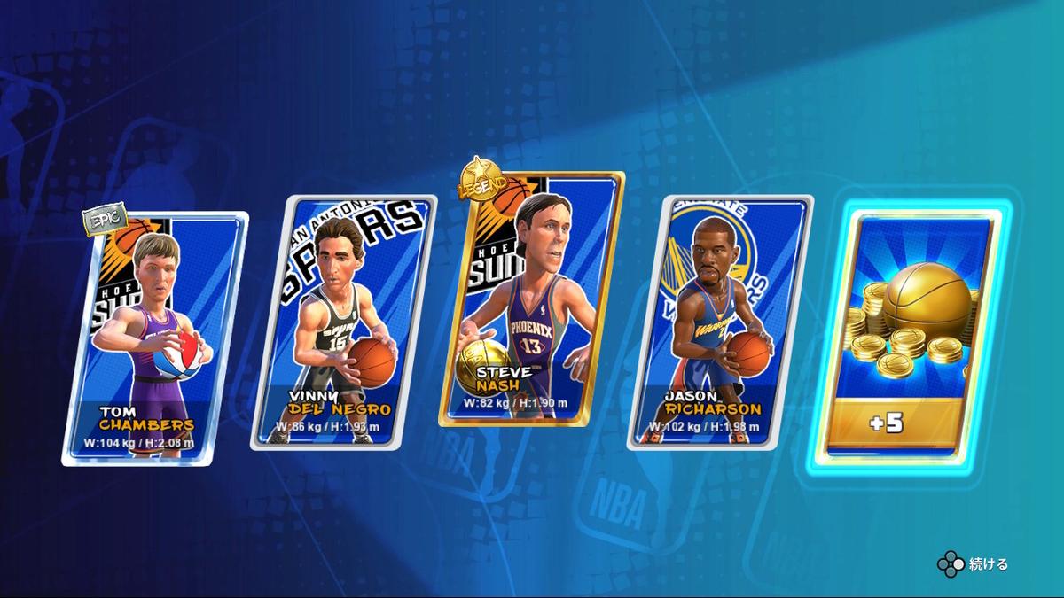 NBA_2K_Playground2_最初のガチャ結果