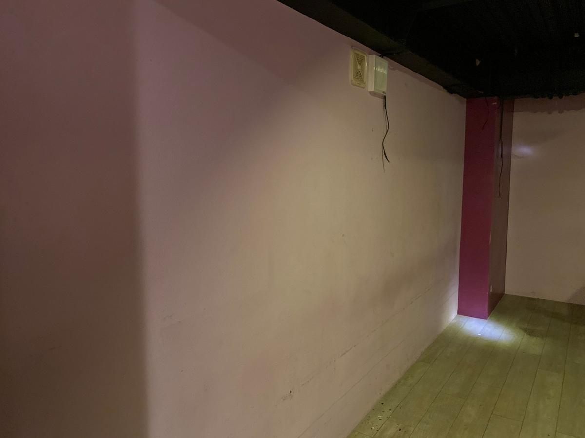 ステンシルで壁画制作