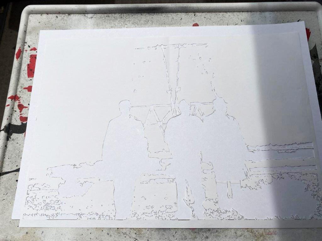 セブンをステンシルで描いてみた