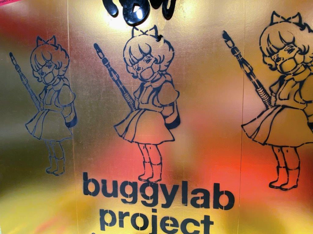 鼻血イラストレーターbuggyの壁画