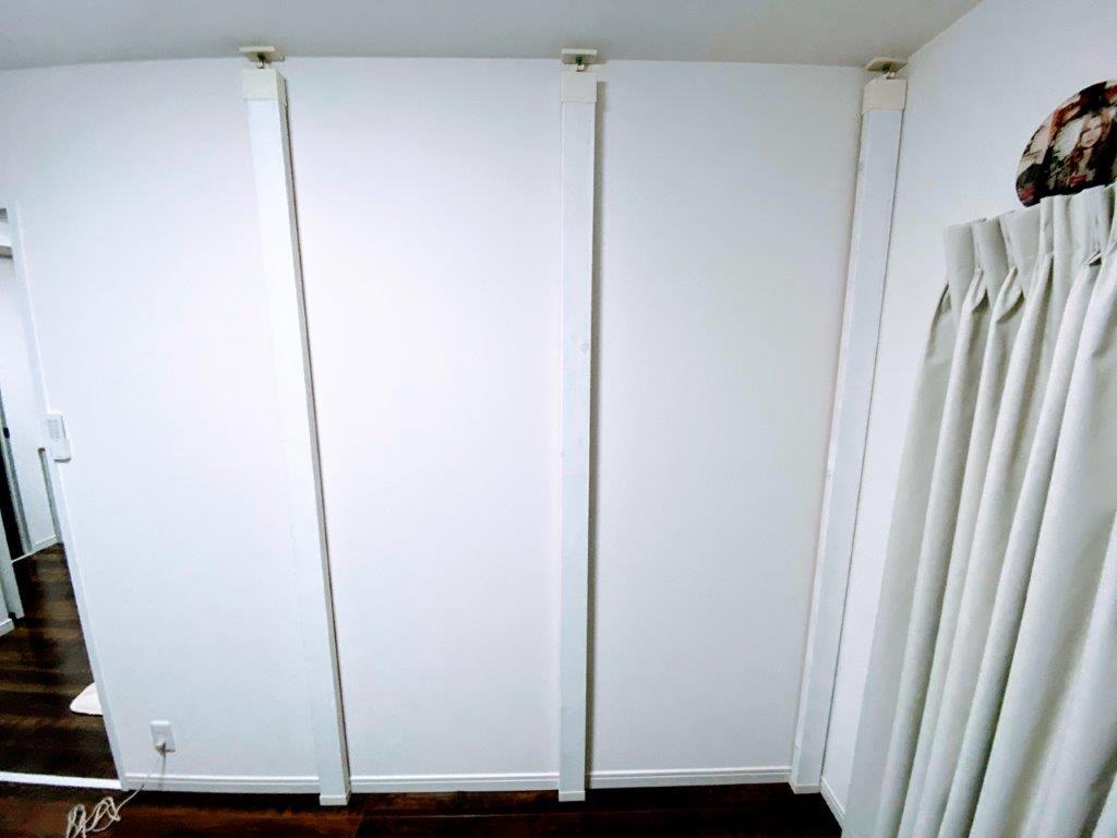 有孔ボードとラブリコで壁面収納