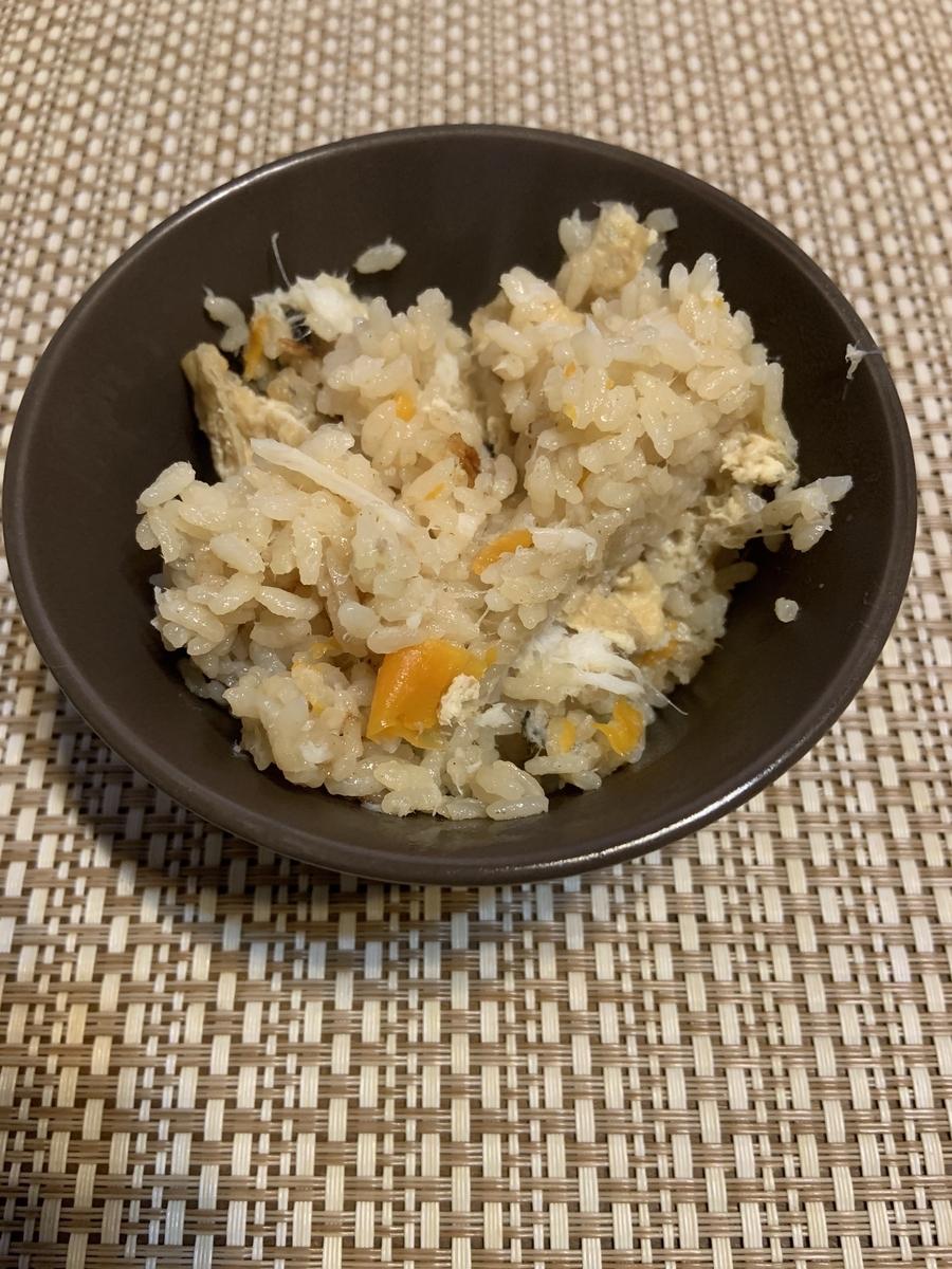 ニジマスの炊き込みご飯2