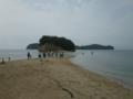 弁天島から余島をながめる(2011年7月29日〜31日・小豆島合宿にて)