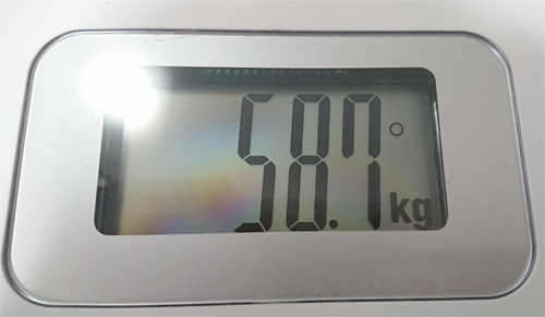 58.7kgの体重計画像