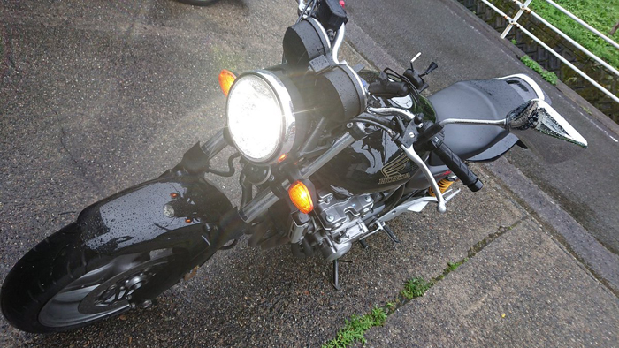 CB400SF LEDヘッドライト