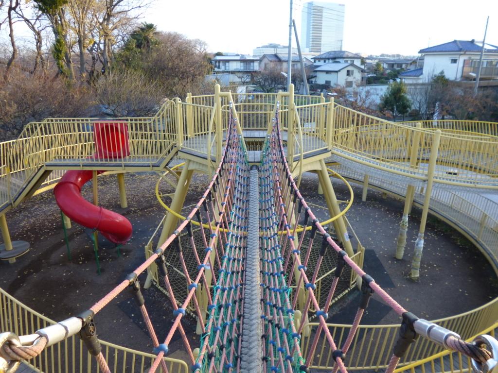 三川公園遊具俯瞰