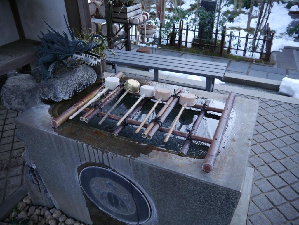龍峰寺手水舎
