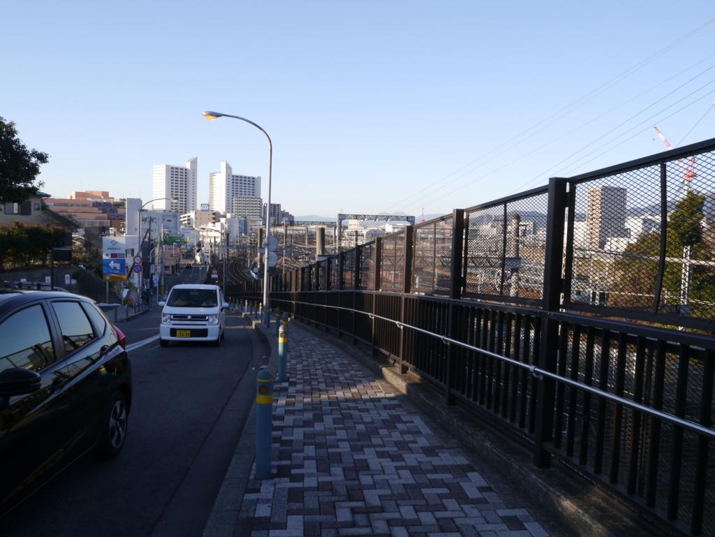 海老名駅への帰り道丘の上から