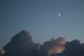 [空][雲][月]入道雲と月