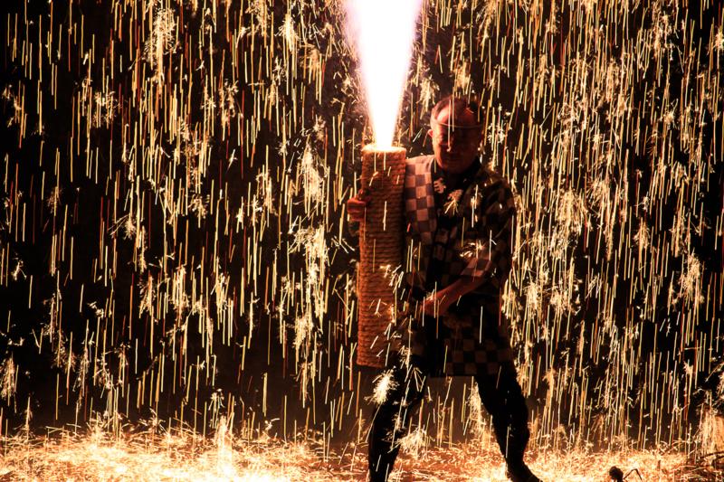 手筒花火の迫力