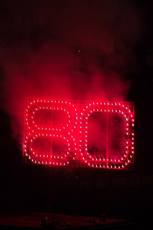 80周年の仕掛け花火