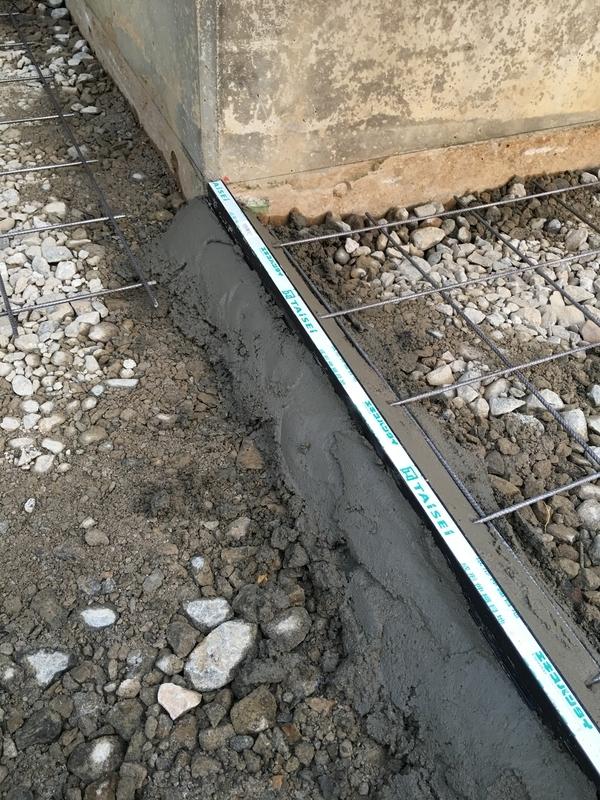 土間コンクリート打設工事 伸縮目地