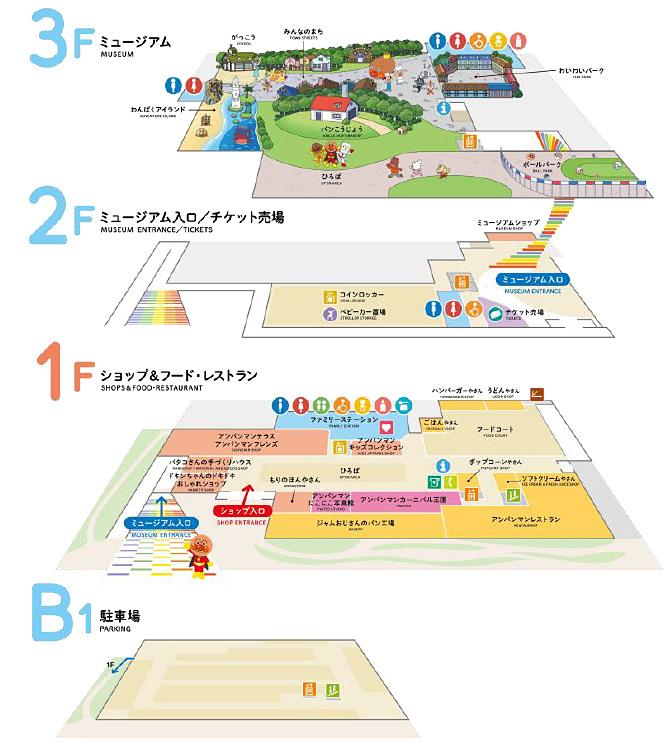 横浜アンパンマンこどもミュージアム 施設見取り図
