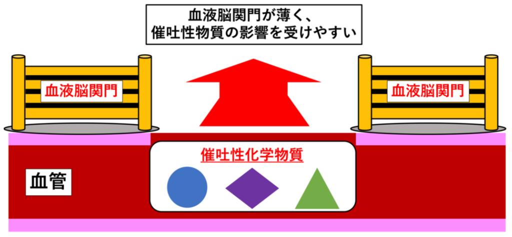 (図解) 化学受容器引き金帯(CTRZ)とは