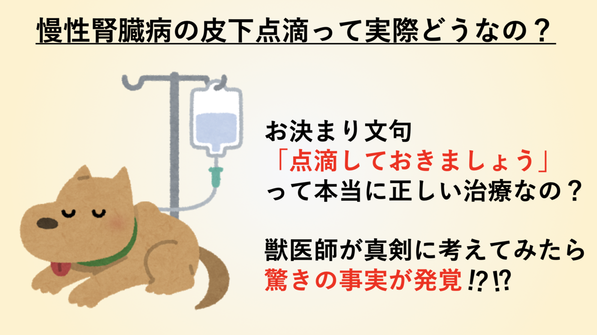 慢性腎臓病の皮下点滴