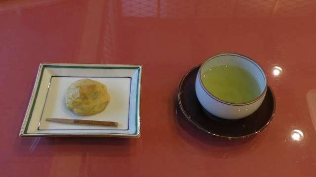 夕日ヶ浦温泉お茶と和菓子