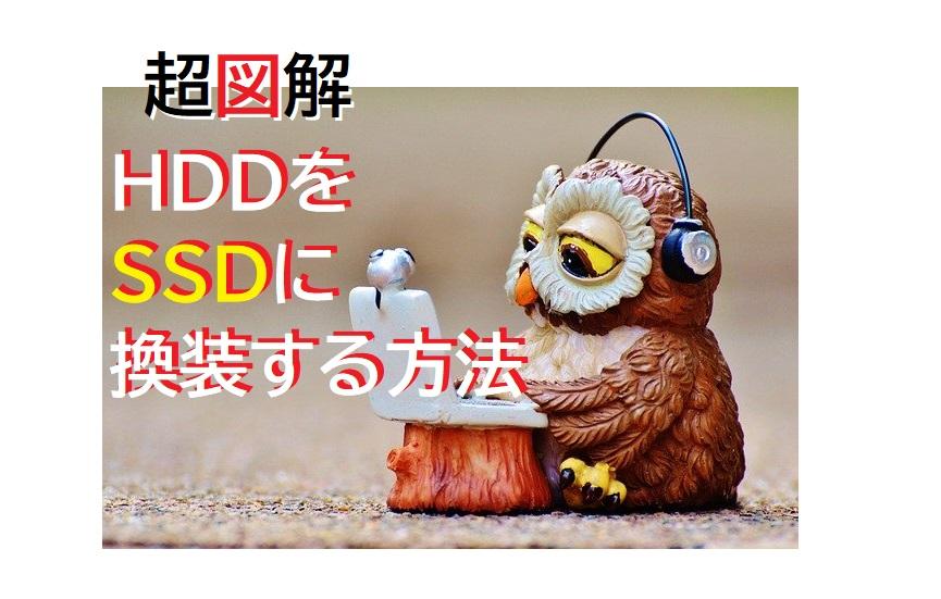 HDDをSSDに換装する方法1