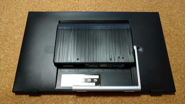 タッチパネルディスプレイ GH-LCT22C-BKの背面形状