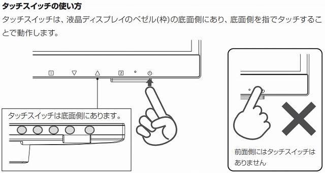 タッチパネルディスプレイ GH-LCT22C-BKの操作性説明