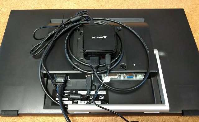 タッチパネルディスプレイ GH-LCT22C-BKのPC取り付け1