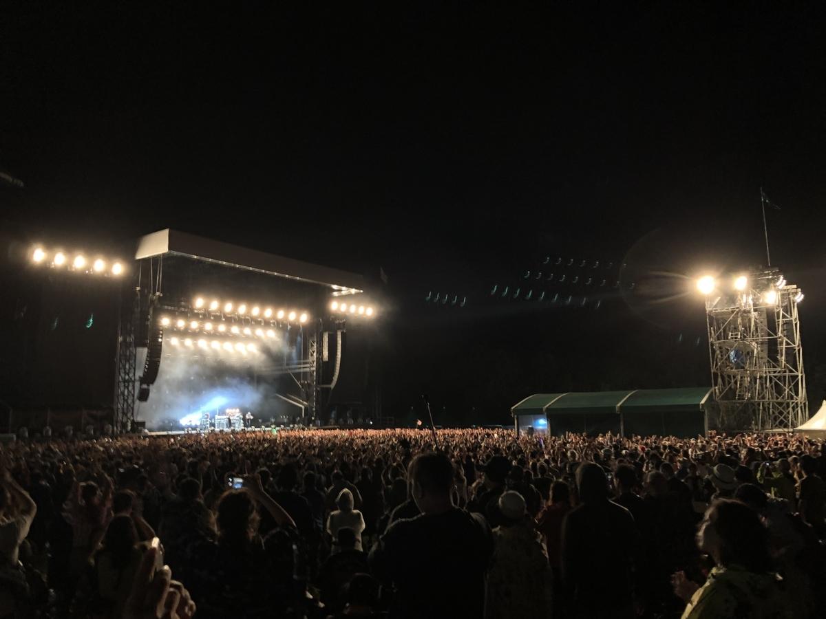 フジロック The Chemical Brothersのステージ