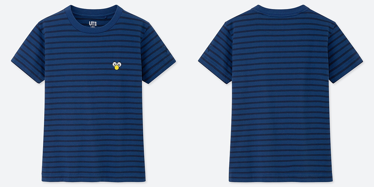 ユニクロとKAWSのコラボTシャツ ネイビー
