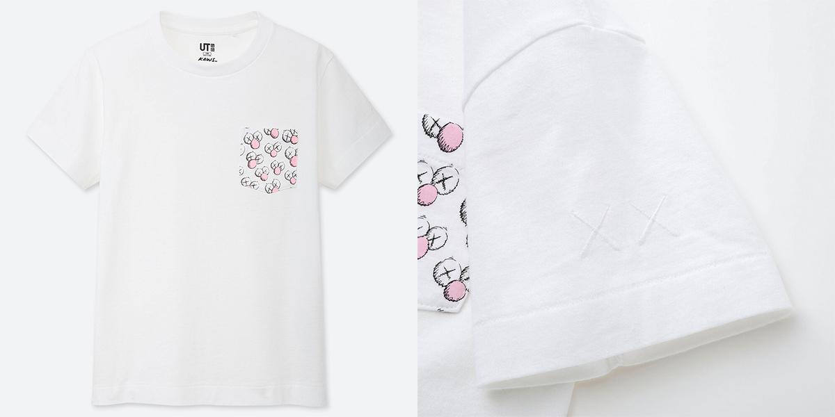 ユニクロとKAWSのコラボTシャツ ホワイト