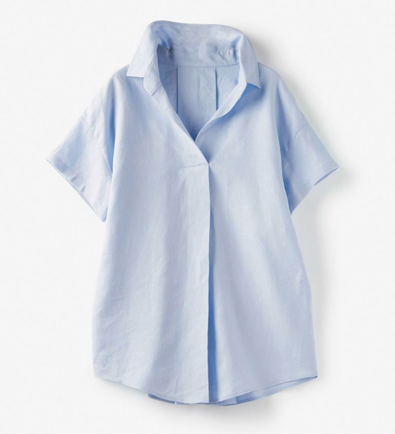 14番リネン・スキッパーシャツ