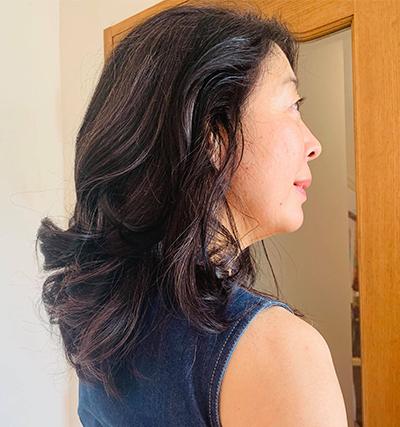 ツヤツヤの巻き髪