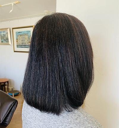 パサついて見える髪