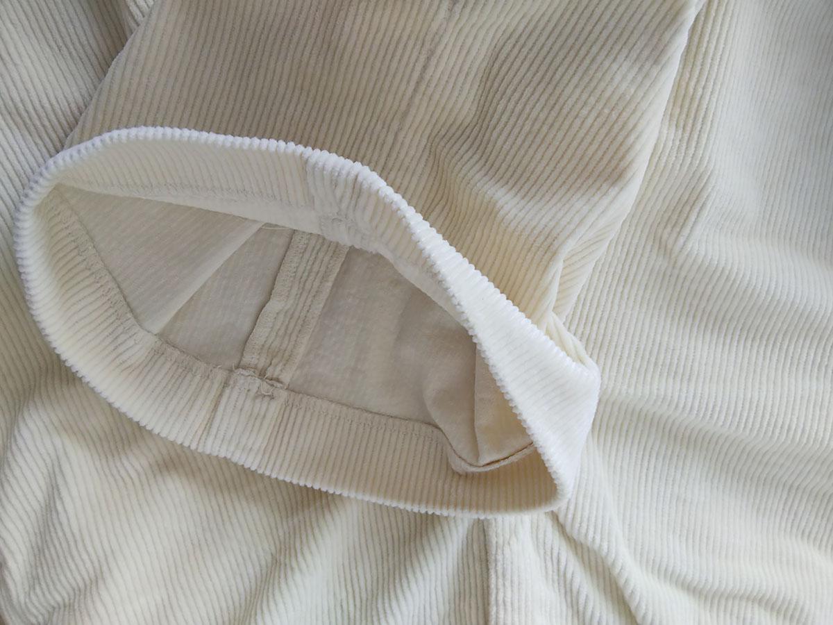 ドゥクラッセは内側からのまつり縫い