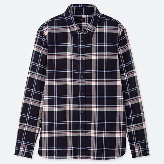 ユニクロのフランネルシャツ