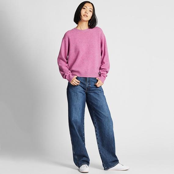 プレミアムラムクルーネックセーター