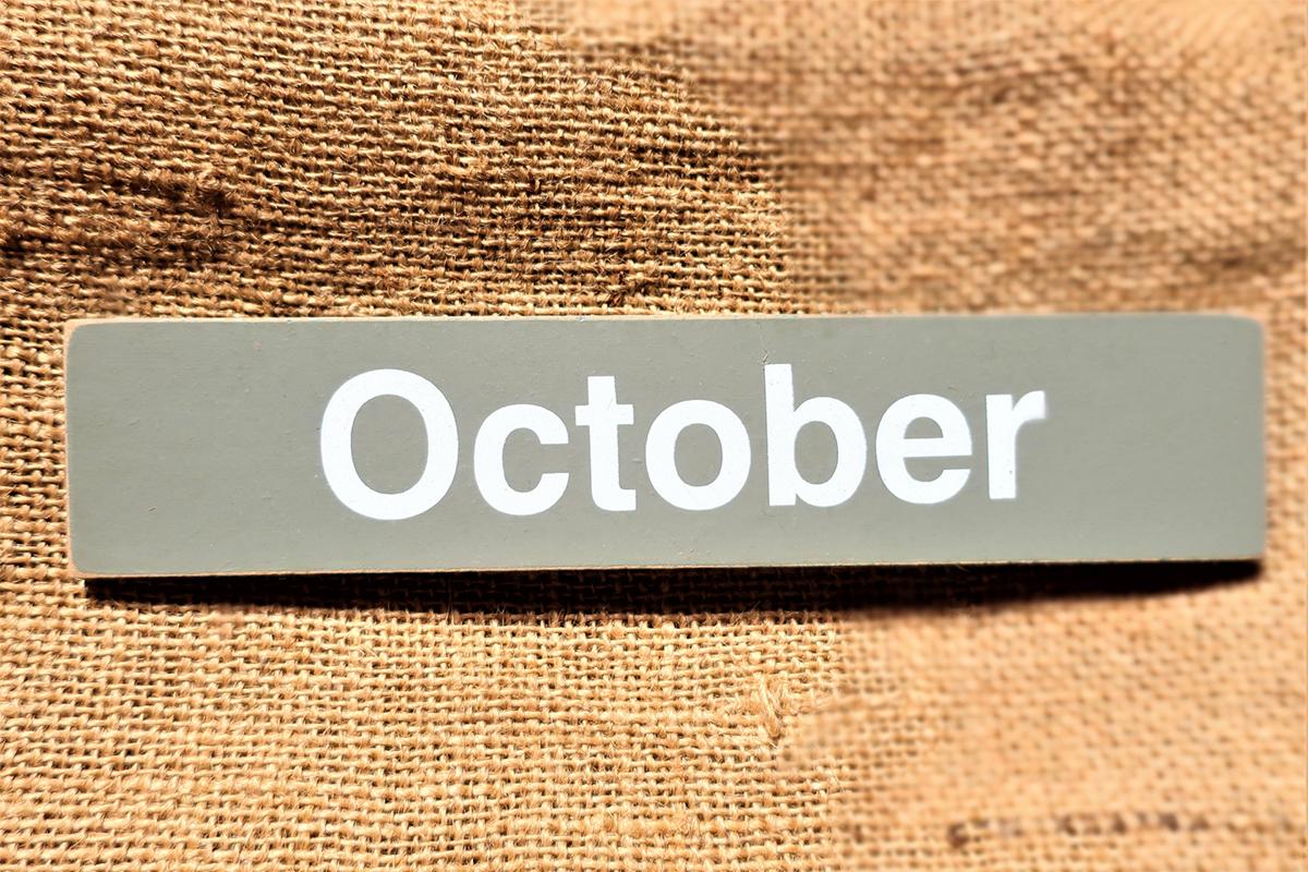 10月の衣替え