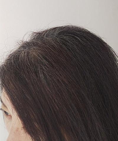 ウィービングした髪