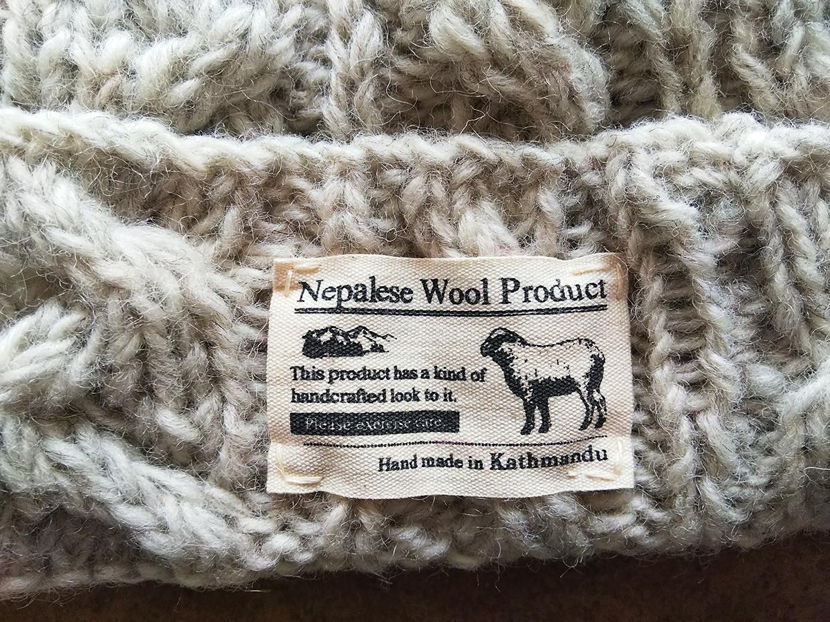 しまむらのネパール製ニット帽