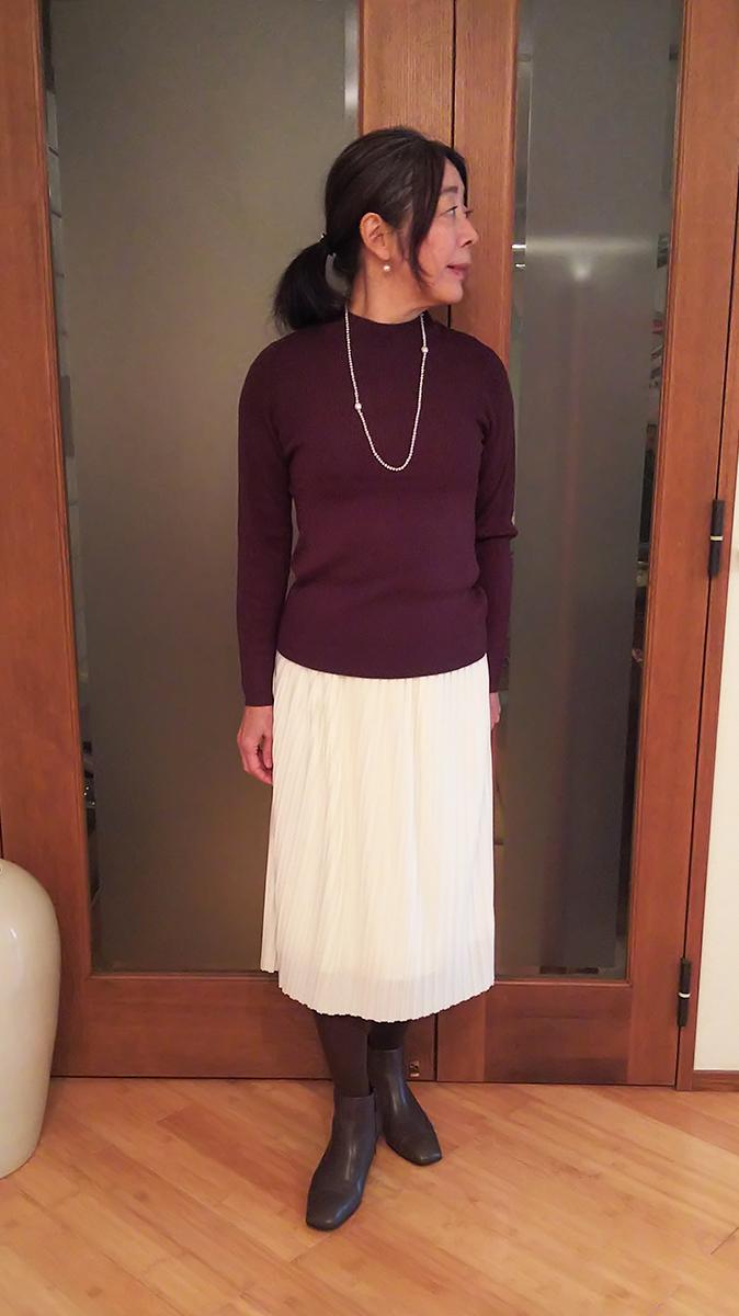 リブハイネックセーター