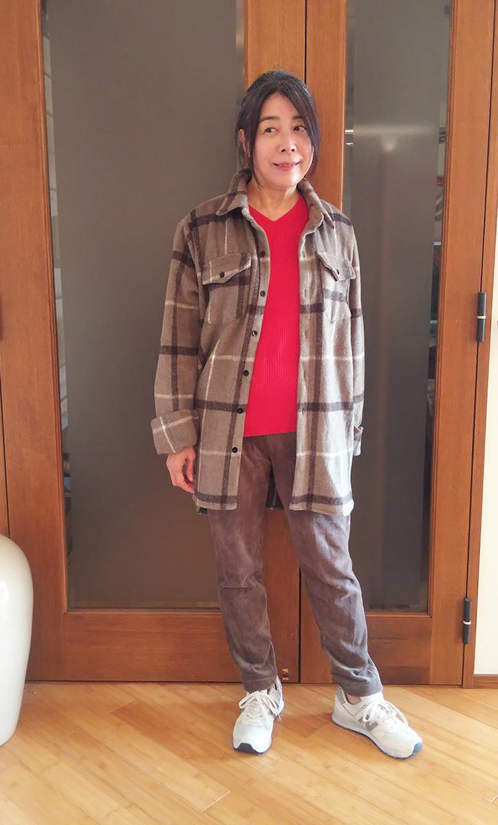チェックオーバーサイズシャツジャケット