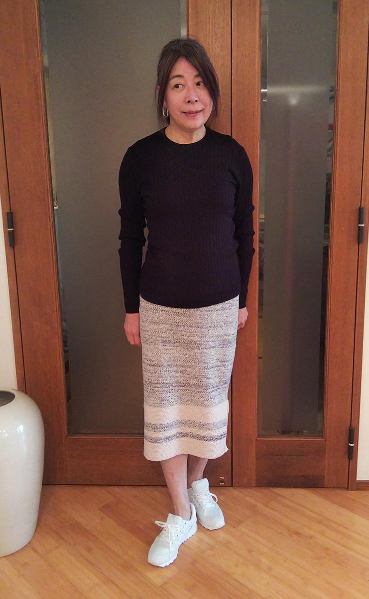 セットアップのスカート