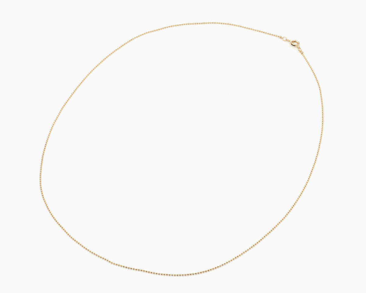 ボールチェーンネックレス2 ゴールド 60cm
